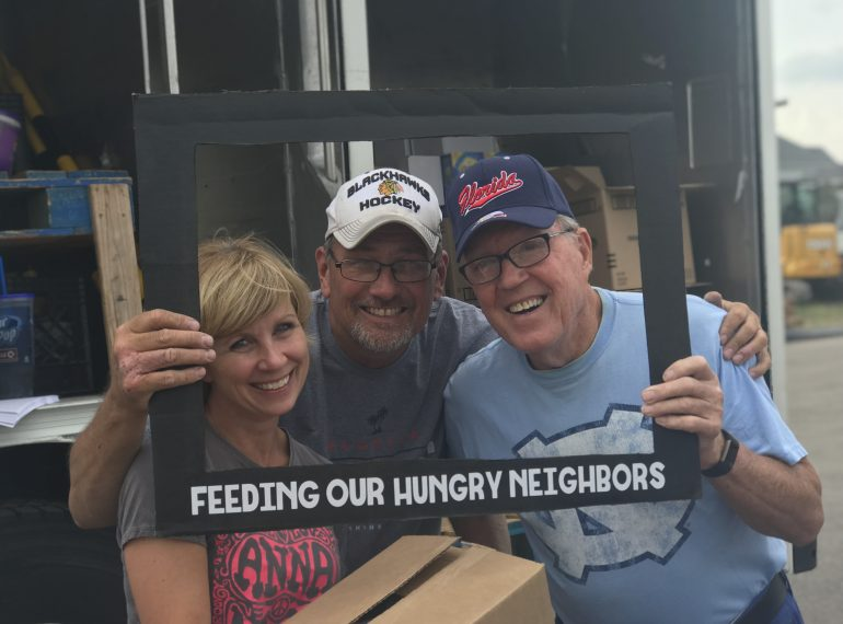 Mobile Food Pantry trucks provide 10,000 lbs of food to struggling families in Minooka, IL and surrounding communities.