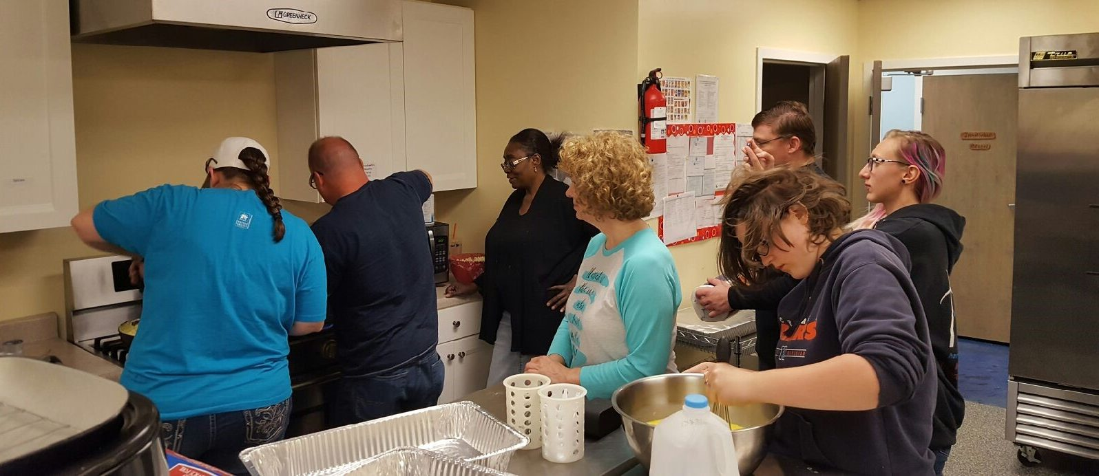 Providign breakfast to homeless in the Roseland community of Chicago